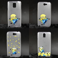 movie doll cartoonFun Minion laser ultra thin scrub pc case For Samsung galaxy Note2 Note3 Note4 cover For Lg g2/g3