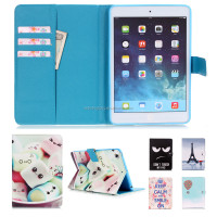 Lovely Cartoon Printing Leather Case Magnetic Flip Stand Case For iPad Mini 2