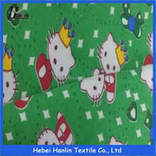 Wholesale custom design cartoon print cotton flannel fabric for children