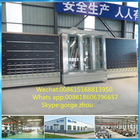 Glass washing machine for construction building use