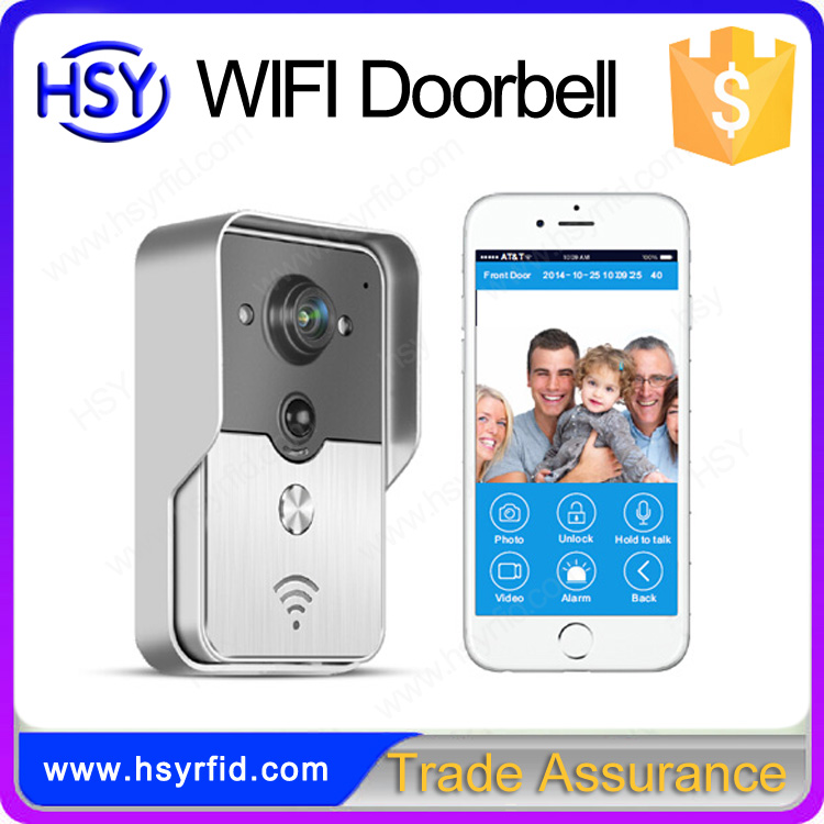 Smart phone control wireless wifi video doorbell