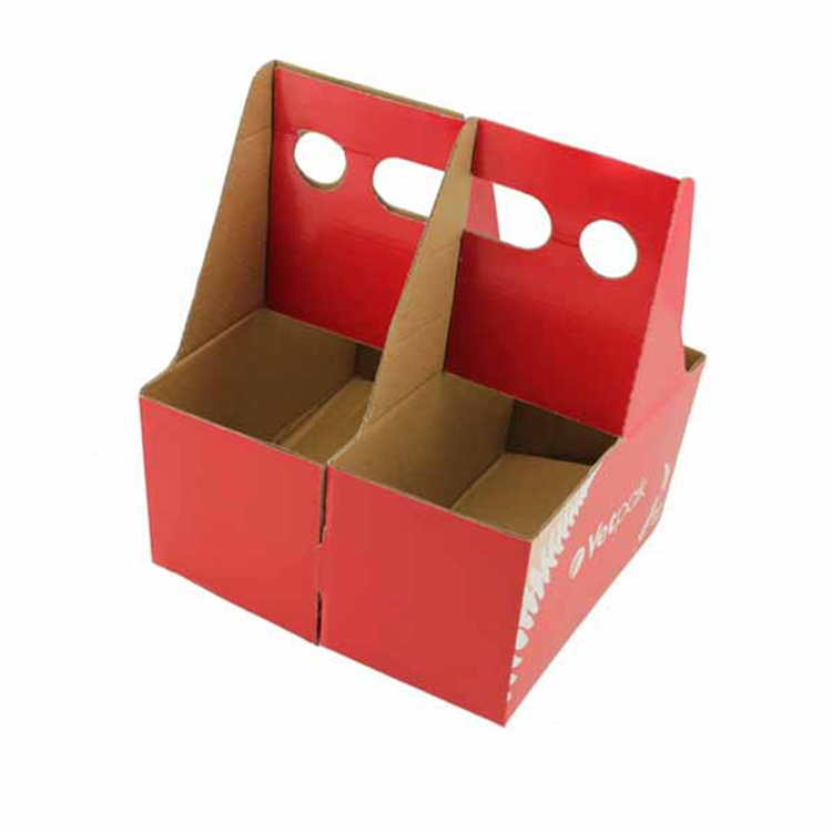 China Supplier Wholesale E Flute Corrugated Board 4 Cups Coffee Carrier Foldable Paper Carrier Takeaway Coffee Holder