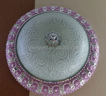 new product 340/400mm pink base ceiling light/ plastic base glass cover ceiling lamp