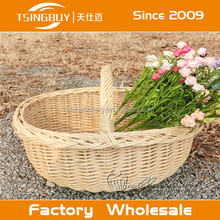 Large wholesale bulk wicker basket with handle