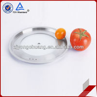 Flat shape tempered glass pan lid frying pan lid