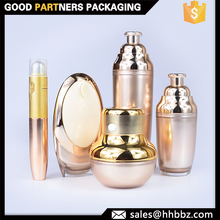 Skin care empty plastic luxury cosmetics packaging sets containers
