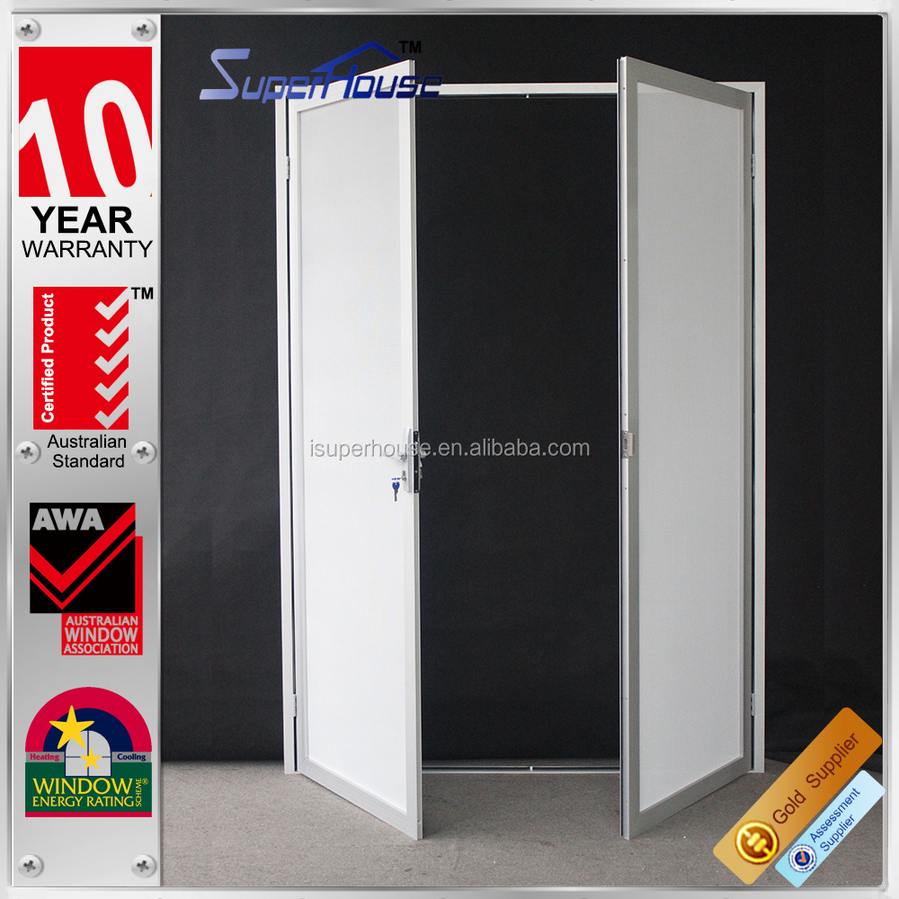exterior aluminum frame security mesh door