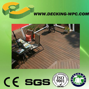 Cheap and useful outdoor co-extrusion wpc grey decking!