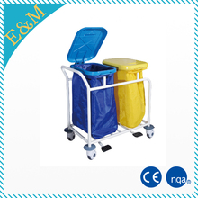 Stainless Steel Pedal Hospital Patient Use Medical Waste Trolleys