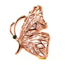 Wholesale Custom Butterfly Brooch Tie Pin for Women Gift Shirt Accessories Rhinestone Brooch