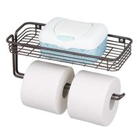 Wall Mounted Bathroom Metal Free Standing Toilet Paper Holder with Tissue Paper Storage rack