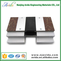 Interior watertight ceramic tile metal expansion joint cover