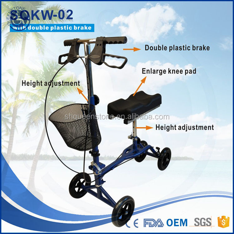 physical therapy SQKW-01 Knee Walker Scooter carry your foot Economic rehab use