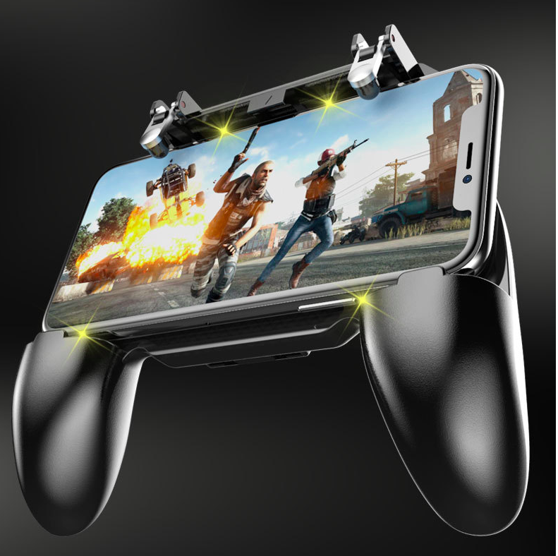 <strong>W10</strong> 3in1 Gaming Trigger With Stand Game Pad Holder for Mobile <strong>Phones</strong>