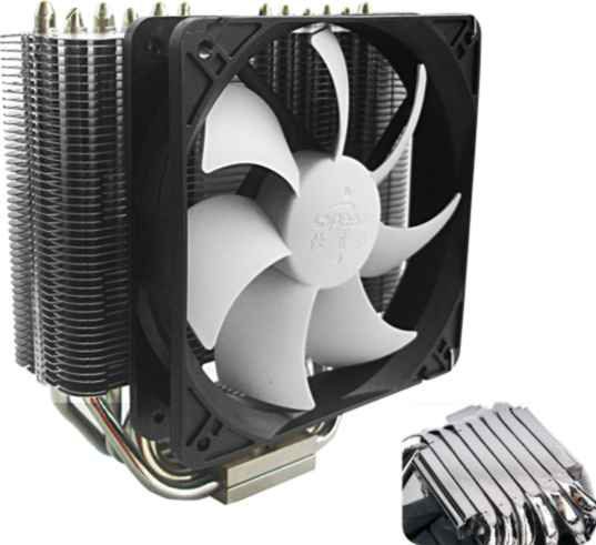 Dadial aluminum heatsink Intel LGA1156/1155 CPU cooler
