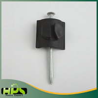 China supplier Electric fencing saddle Nail-on plastic insulator for livestock farm post
