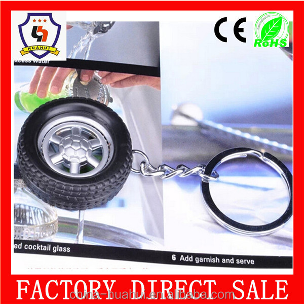High Quality tire keyring/ metal car key chain factory direct manufacture(HH-keychain-1676)