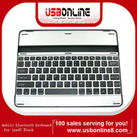 Free Shipping Mobile Bluetooth Aluminium Keyboard for iPad 2 Wholesale