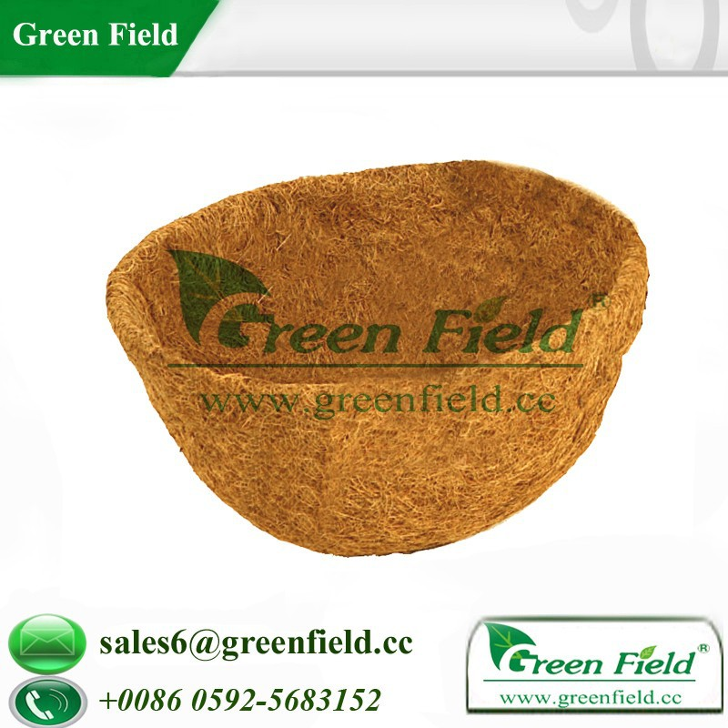 Biodegradable natural coir fiber hanging basket liners