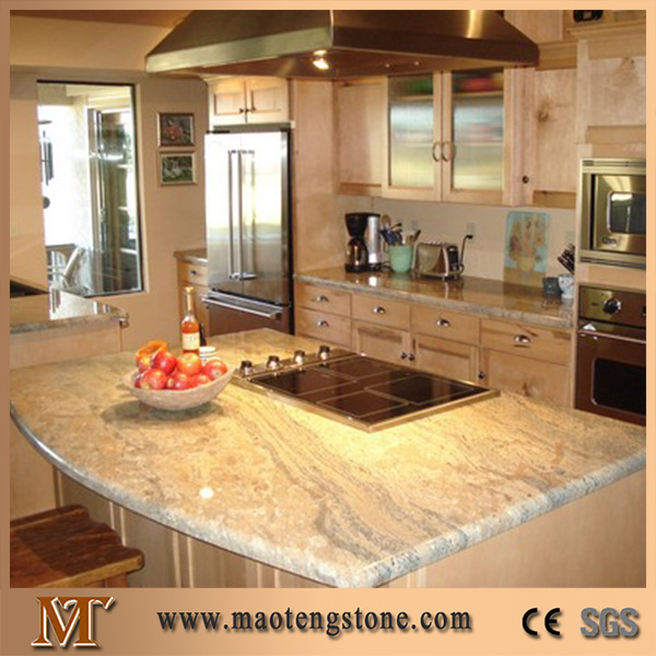 Natural Granite Stone Restaurant Kitchen Prefab Island Top