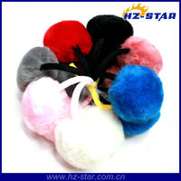 HZE-13019 alibaba express cute plush winter newest Warm funny fashion colorful ear muffs