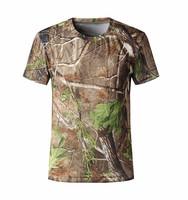 summer men hunting clothing custom t shirt hunting tops quick dry woodland camo print sleeveless shirt