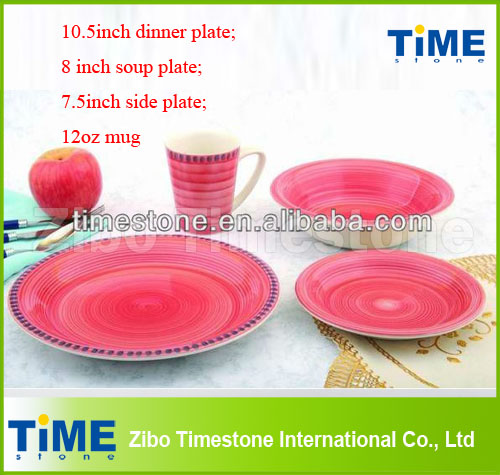 Hot Sale 24pcs Handpainted Stoneware Dinner Set
