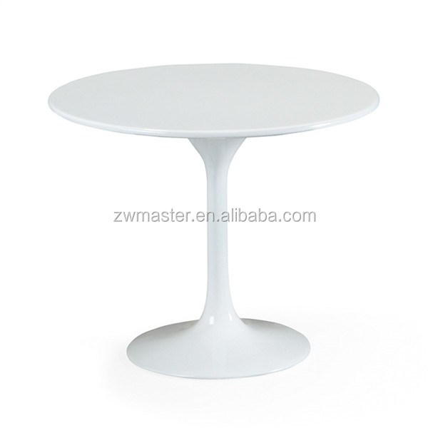 round top fiberglass leisure 90cm dining knoll tulip table