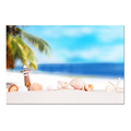 Wholesale Canvas Artwork Shells on the Beach Picture Canvas Printing Romantic Seascape Canvas Wall Decor Bedroom Decoration