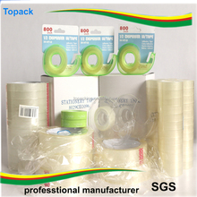 Factory Price Super Clear Bopp Adhesive Stationery Tape Transparent Packing Tape