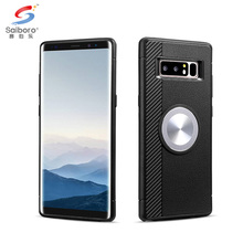Shockproof cd grain TPU+Aluminum car magnetic phone case for iphone x back cover