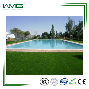 35mm Natural Color Artificial Turf Plastic Grass For Swminnimg Pool