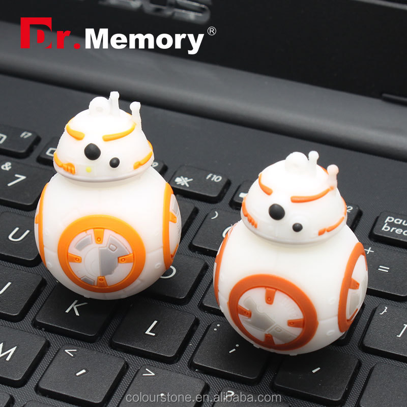Dr.memory alibaba hot products BB8 robot cute usb flash drive 2.0 with download/upload function,silicone usb gedget 1-64gb