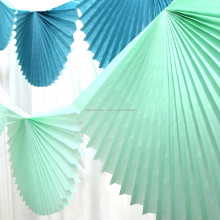 Baby Shower Party Decoration Set Blue Paper Fan Garland Bunting