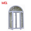 half moon pvc arch top windows