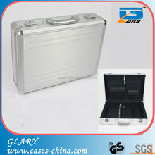 GL-S126 Silver and with real aluminum panel aluminum suitcase