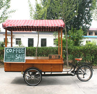 Awesome three wheels cargo bike used for selling coffee