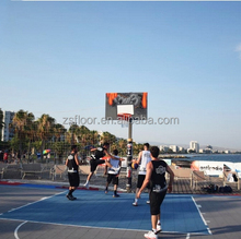 Interlocking removable Basketball Court Sports Surfaces Floor Tiles