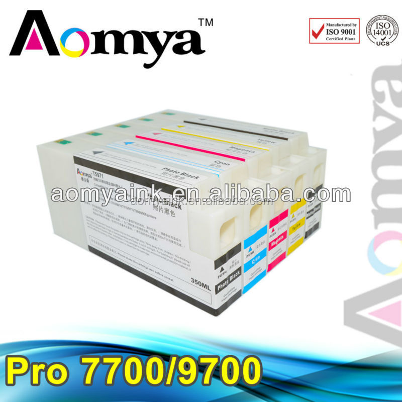 Aomya New Refillable ink cartridges for Epson 7700/ 9700/ 7710/ 9710