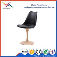 plastic revolving tulip chair with metal base