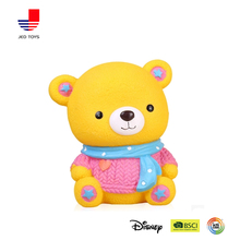 shatterproof cute cartoon bear vinyl money box
