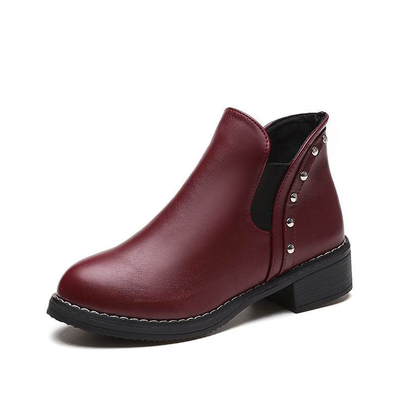 2017 comfortable women short working boot Winter shoes ladies
