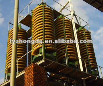 Gravity Spiral Chute in mineral benefication plant