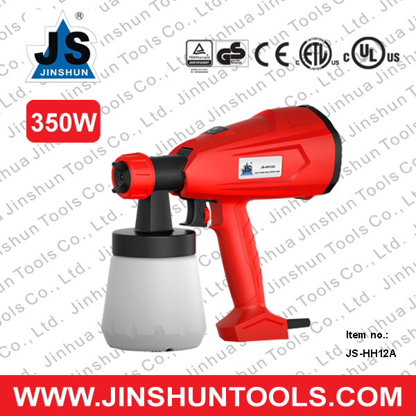 JS-HH12A 350W easy used hand held powder coating electric HVLP paint spray gun