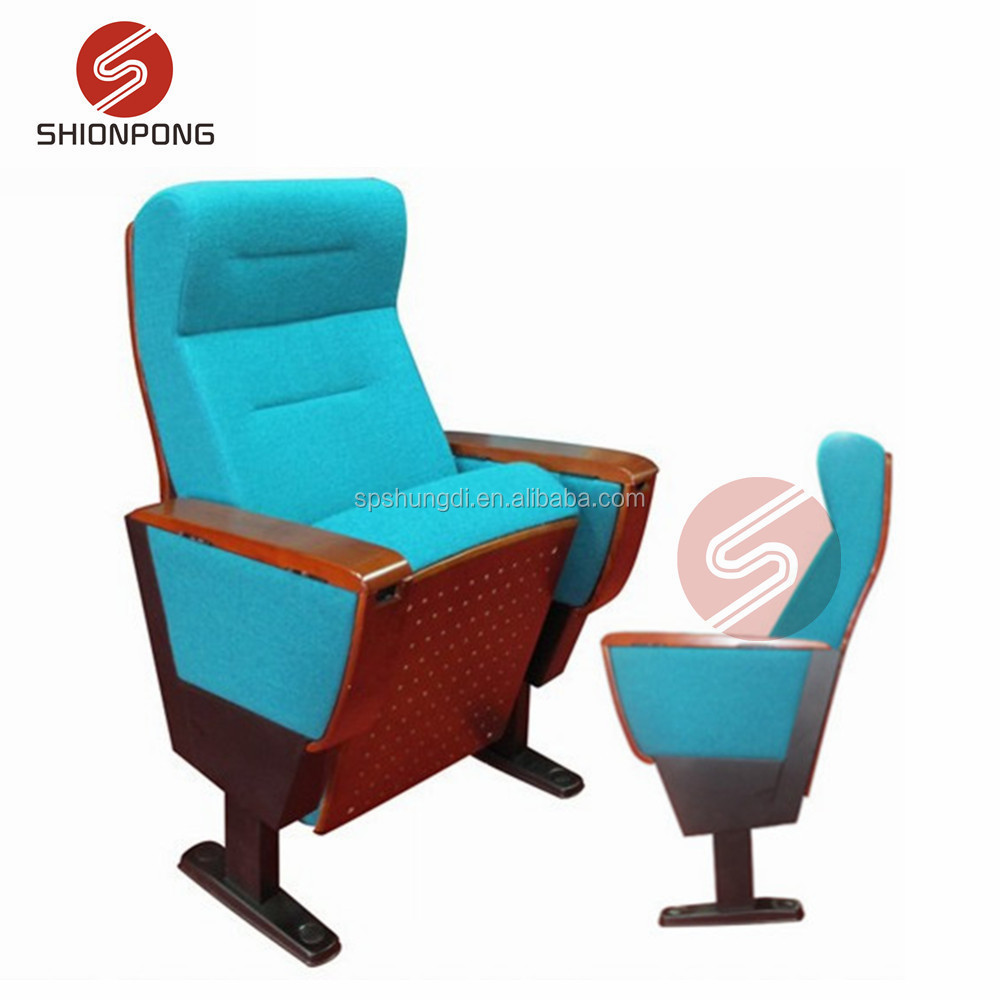 high quality wood auditorium chair lecture chair with writing pad