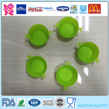 Fashion Sample Free Heat Prevent Silicone Baby Cupcake Case,Muffin Cups