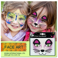 2015 New Arrival Wholesale Face Body Painting Sticker