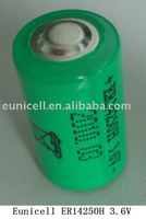 ER14250 14250 1200mAh 1/2AA lithium battery non-rechargeable