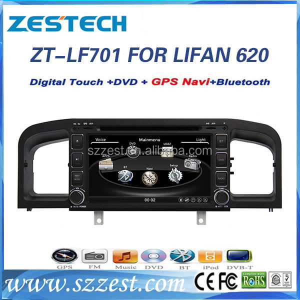 ZESTECH 2 Din dvd for lifan 620 dvd gps with radio tv and gps navigation special