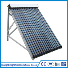 Custom made Slope Roof Solar Water Heater With Heat Pipe Keymark Approved Pressure Evacuated Tube Collectors